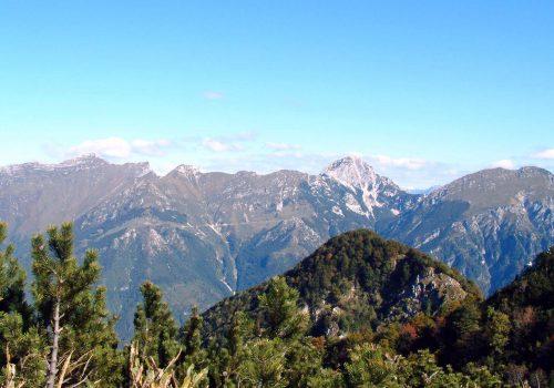 Monte Plauris visto da sud, Venzone